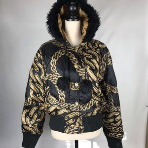 Roca Wear 80% Feather Down Faux Fur Hood Large